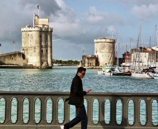 Puerto de La Rochelle al oeste de Francia