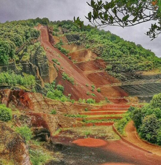 Volcán El Croscat en La Garrotxa en Cataluña