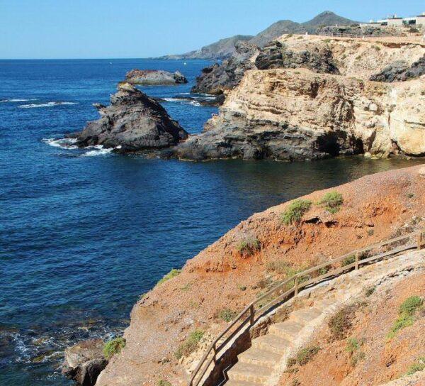 Zona de acantilados en Cabo de Palos junto al Mar Menor