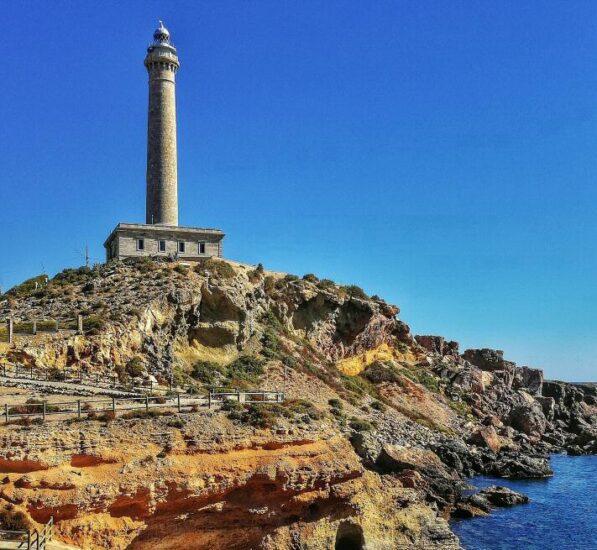 Cabo de Palos junto al Mar Menor en Murcia