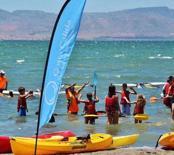 Actividades náuticas en el Mar Menor en Murcia