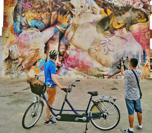 Arte urbano en Los Alcázares en el Mar Menor en Murcia