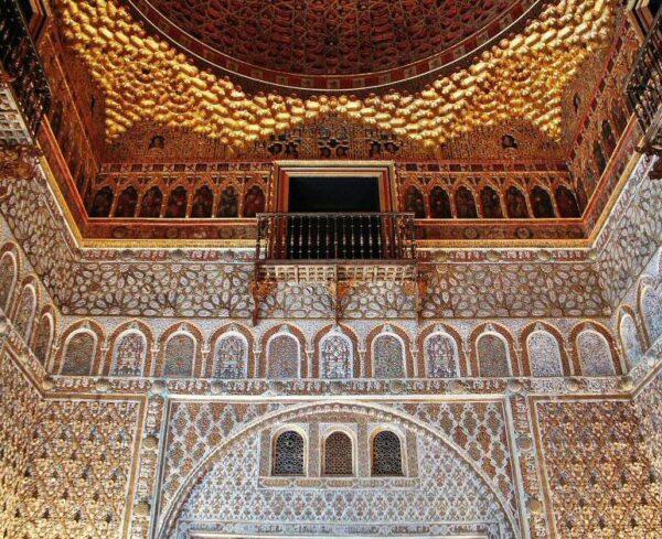Decoración interior en el Real Alcázar de Sevilla