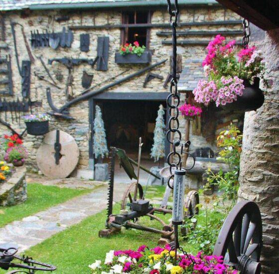 Rincón de Bagergue en Valle de Arán en los Piriones de Cataluña