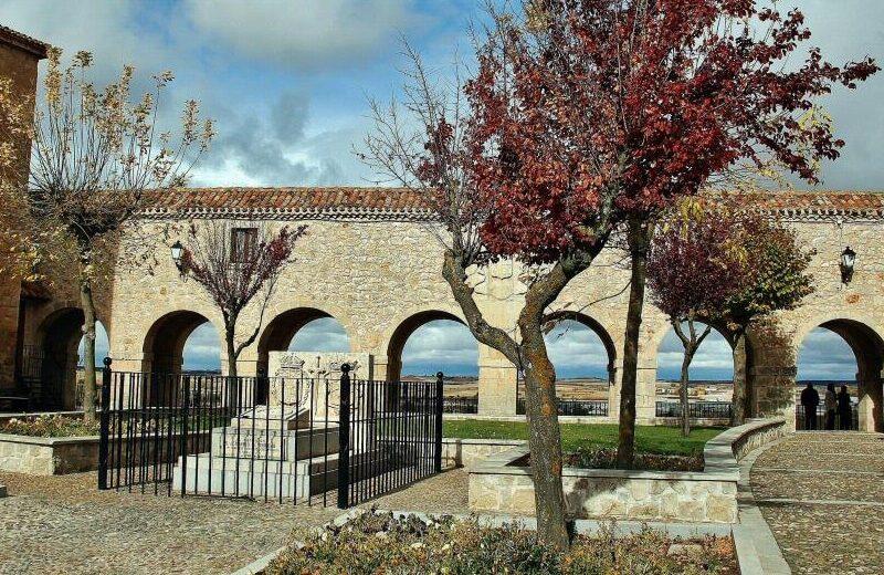 Plaza de Santa Clara en Lerma en la provincia de Burgos
