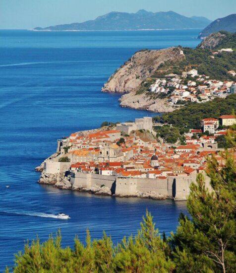 Vistas panorámicas de Dubrovnik en Croacia