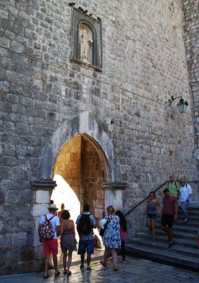 Puerta de Pile para entrar en la Ciudad Vieja de Dubrovnik