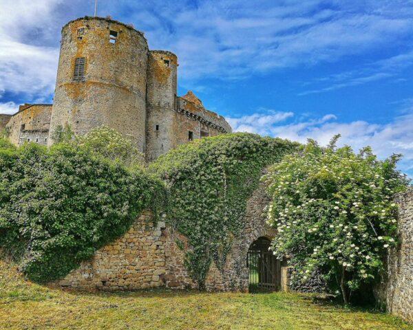 Castillo de Clisson en la región Viñedo de Nantes