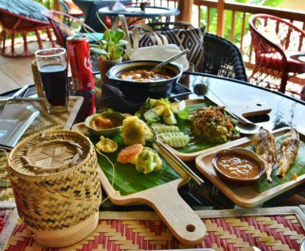 Comida típica en Laos