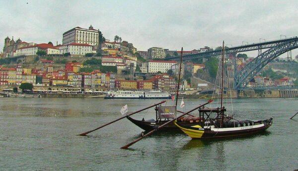 Oporto y el río Duero desde Vila Nova Gaia
