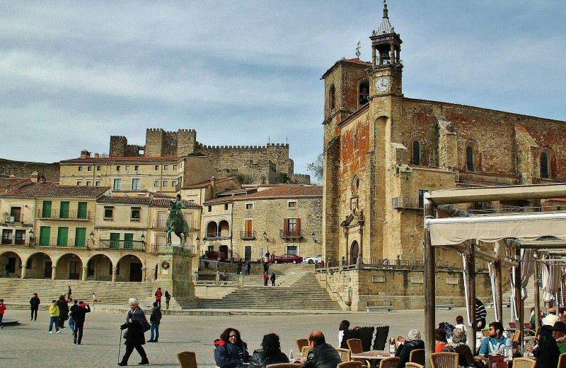 Plaza Mayor de Trujillo en la provincia de Cáceres en Extremadura