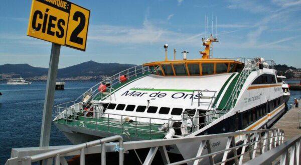 Barco para ir a las islas Cíes desde Vigo