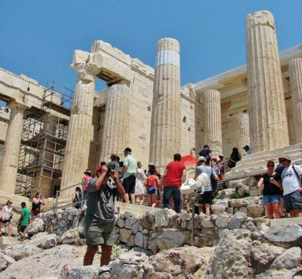 Propileo en la Acrópolis de Atenas