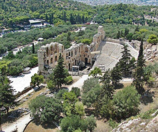 Teatro romano Herodes Amicus en la Acrópolis de Atenas