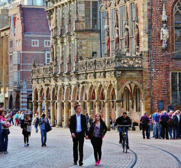 Antiguo ayuntamiento de Bremen en Alemania