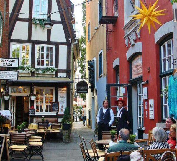 Rincón de Schnoor, barrio antiguo de Bremen