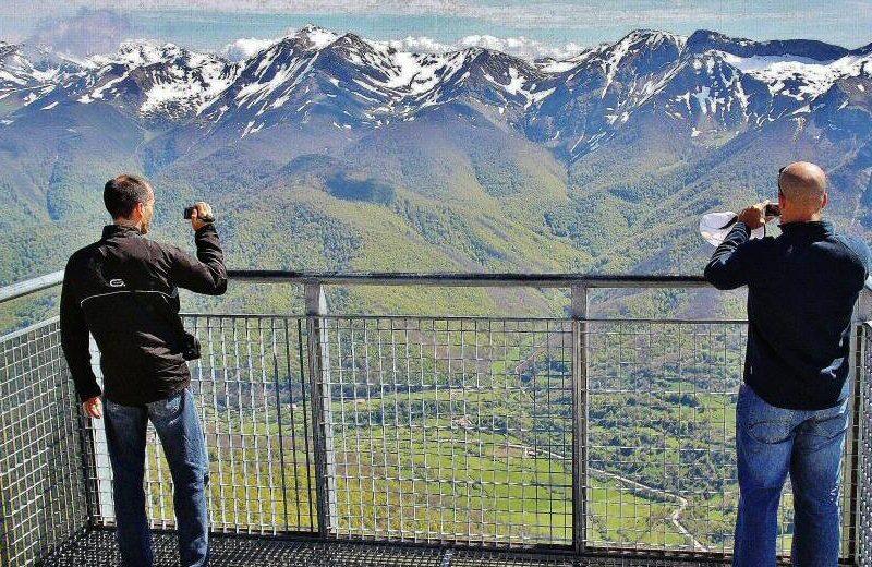 Mirador de Fuente Dé en los Picos de Europa en Cantabria