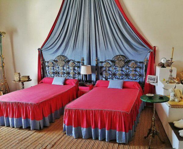 Dormitorio en la Casa Museo Dalí de Portlligat en Cadaqués