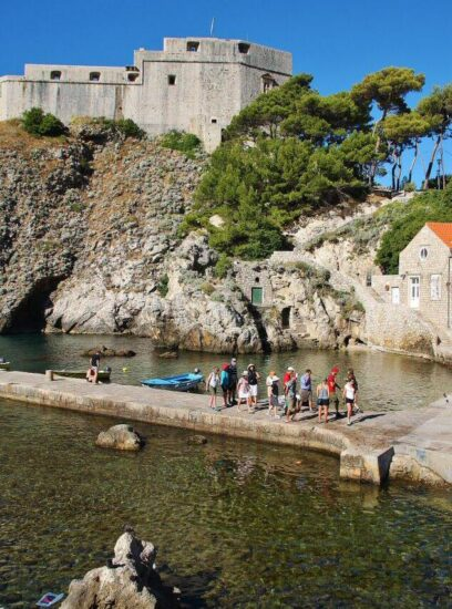 Fortaleza de San Lorenzo en Dubrovnik en Croacia