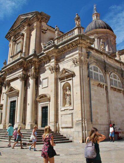 Catedral de la Asunción en Dubrovnik en Croacia