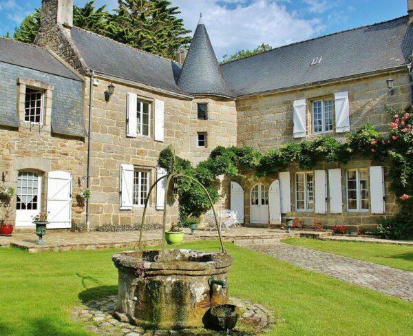 Casa del estudio de Gauguin en Pont Aven en Bretaña al oeste de Francia