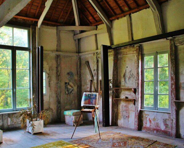 Antiguo estudio de pintores en Pont Aven en Bretaña al oeste de Francia