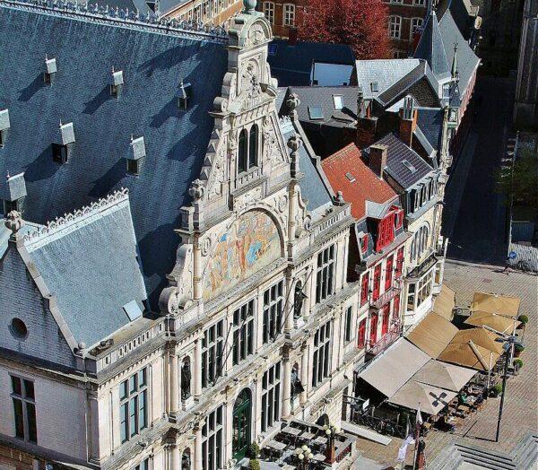 Vistas panorámicas de Gante desde la torre Campanario Municipal