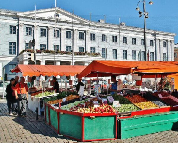 Plaza del Mercado en Helsinki
