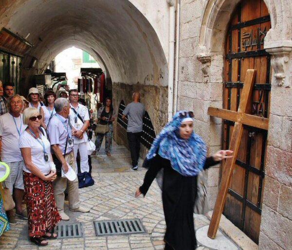 Turismo religioso en la ciudad antigua de Jerusalén