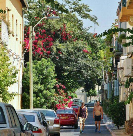 Rincón del Barrio Neve Tzedek en Tel Aviv en Israel