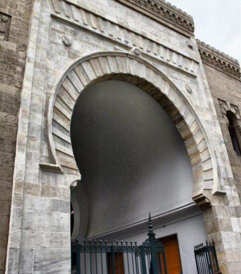 Puerta árabe en el Mercado de Atarazanas de Málaga