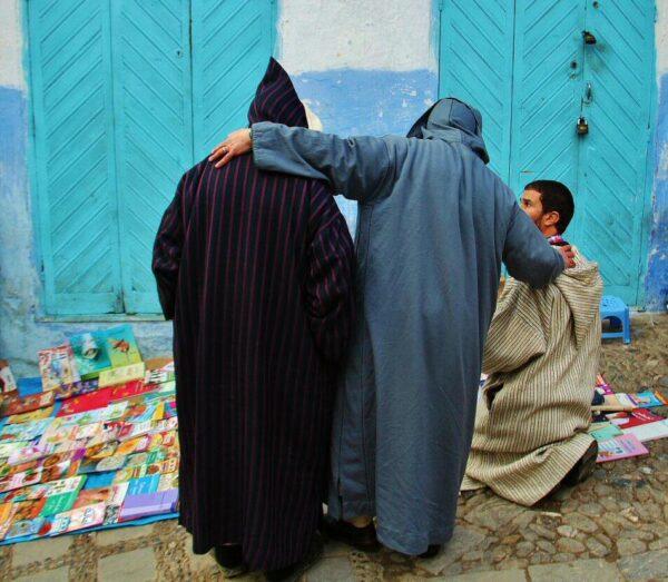 Rincón de la medina de Chefchaouen en Marruecos