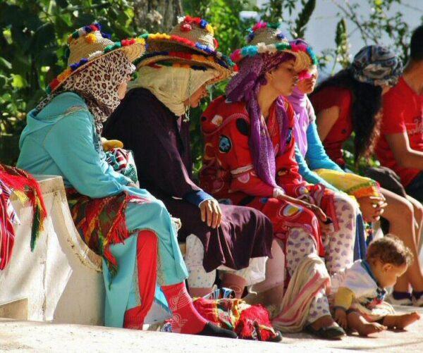 Campesinas en Chefchaouen en Marruecos