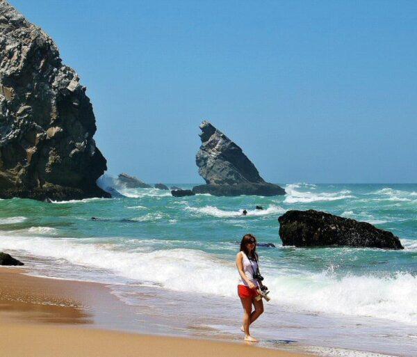 Playa Adraga cerca de Sintra en Portugal