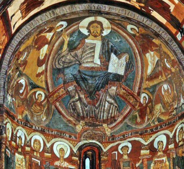 Pantocrator en ábside de Sant Climent de Taüll en Valle de Boí