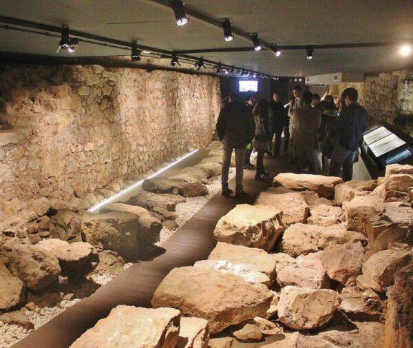 Restos de la muralla medieval de Santander