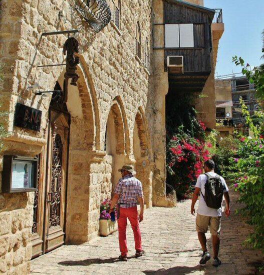 Antiguo puerto de Jaffa en Tel Aviv en Israel