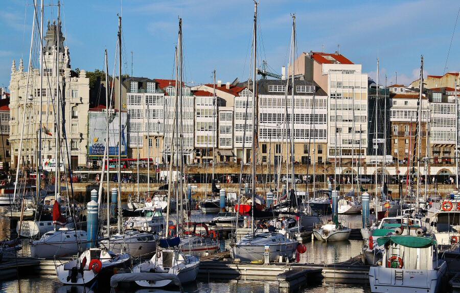 Puerto de A Coruña en Galicia