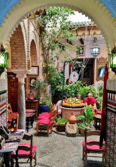 Tetería en el barrio de la Judería de Córdoba
