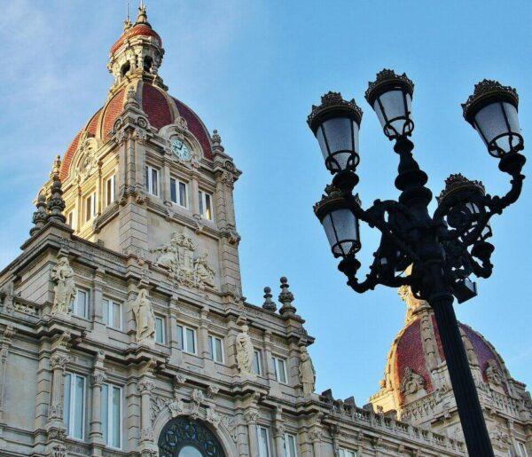 Ayuntamiento de A Coruña en plaza de María Pita