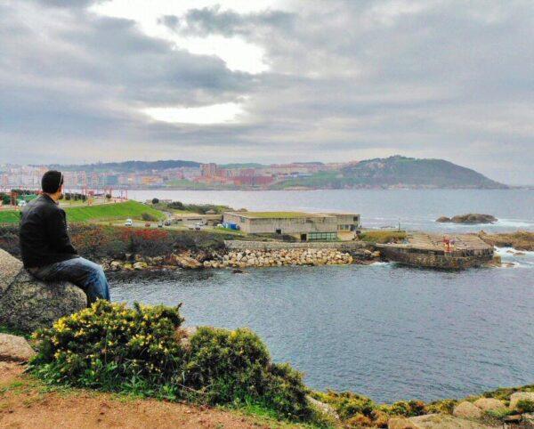 Vistas desde el parque de la Torre de Hércules en A Coruña