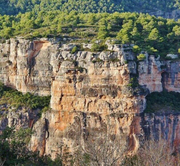 Zona de escalada en Siurana en Priorat en Tarragona