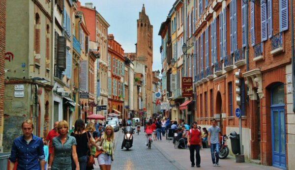 Centro histórico de Toulouse en Francia