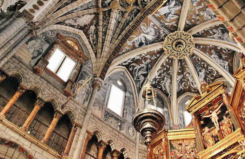 Decoración del techo de la catedral de Tarazona en la provincia de Zaragoza