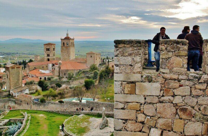 Castillo de Trujillo en Cáceres en Extremadura