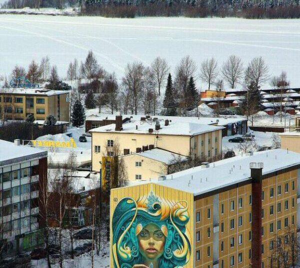 Vistas panorámicas de Kemi en Laponia Finlandia