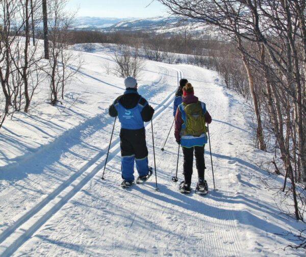 Trekking con raquetas de nieve en Laponia Noruega