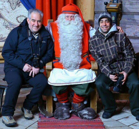 Con Santa Claus en Santa Claus Village en Rovaniemi
