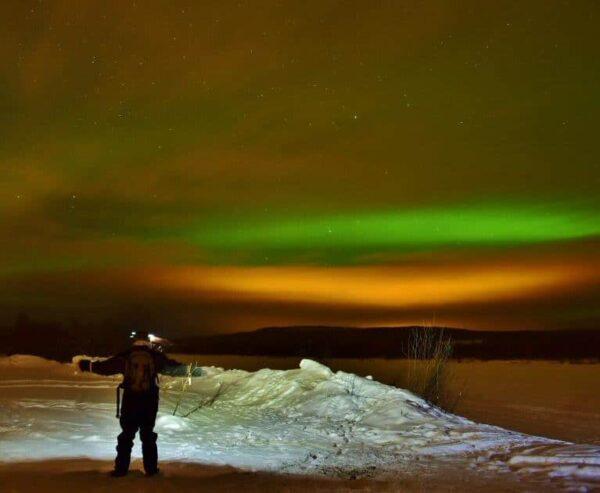 Auroras boreales en Laponia de Finlandia