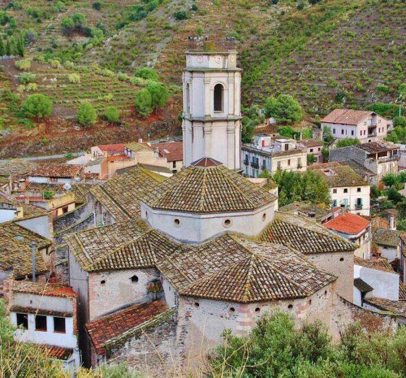 Vistas desde el mirador de Porrera en Priorat en Tarragona